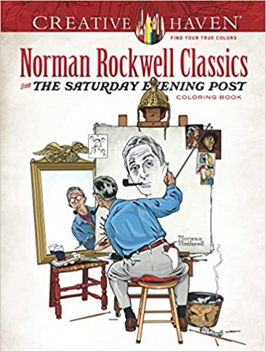 Amazon Creative Haven Norman Rockwell Classics From The Saturday Evening Post Coloring Book Adult 0800759814350