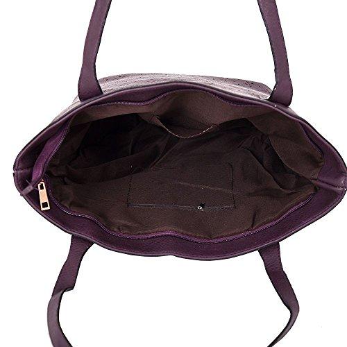 à cabas pour main grand coupe femme DIVA simili détail Pourpre Large sac haute Beige décontracté NEUF 'S pour laser cuir sac IxwFnqBa6