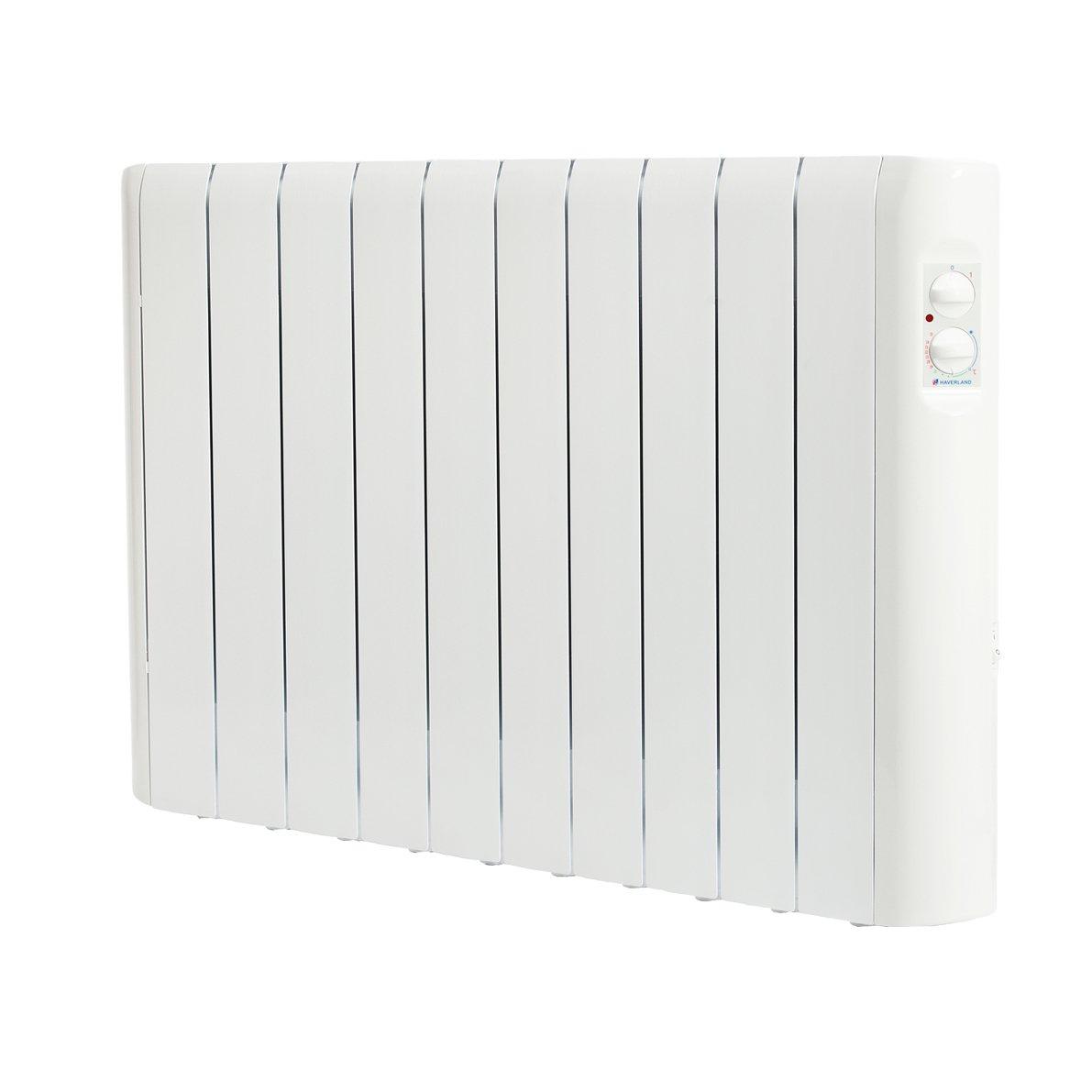 1000 W usage id/éal 1-6h//jour pi/èces de +//- 11-15 m/² Haverland RC8A Blanc Radiateur /électrique analogique /à inertie fluide caloporteur