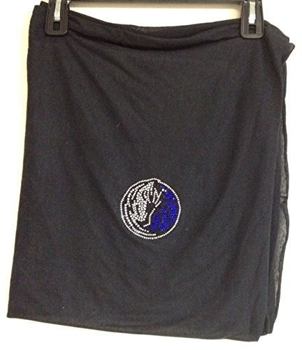 - DALLAS MAVERICKS One Size Black Infinity Scarf w/Mavericks Logo Gem Design