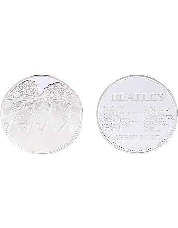SMALLJUN British Beatles Street Moneda Conmemorativa Medalla chapada en Oro Colección de Monedas de Oro y