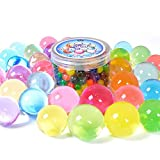 jelly balz - AINOLWAY Large Water Beads 250pcs, Growing Gel Balls Jelly Crystal Soil For Kids Tactile Toy and Vase Fillers ( 7.5oz Pack )