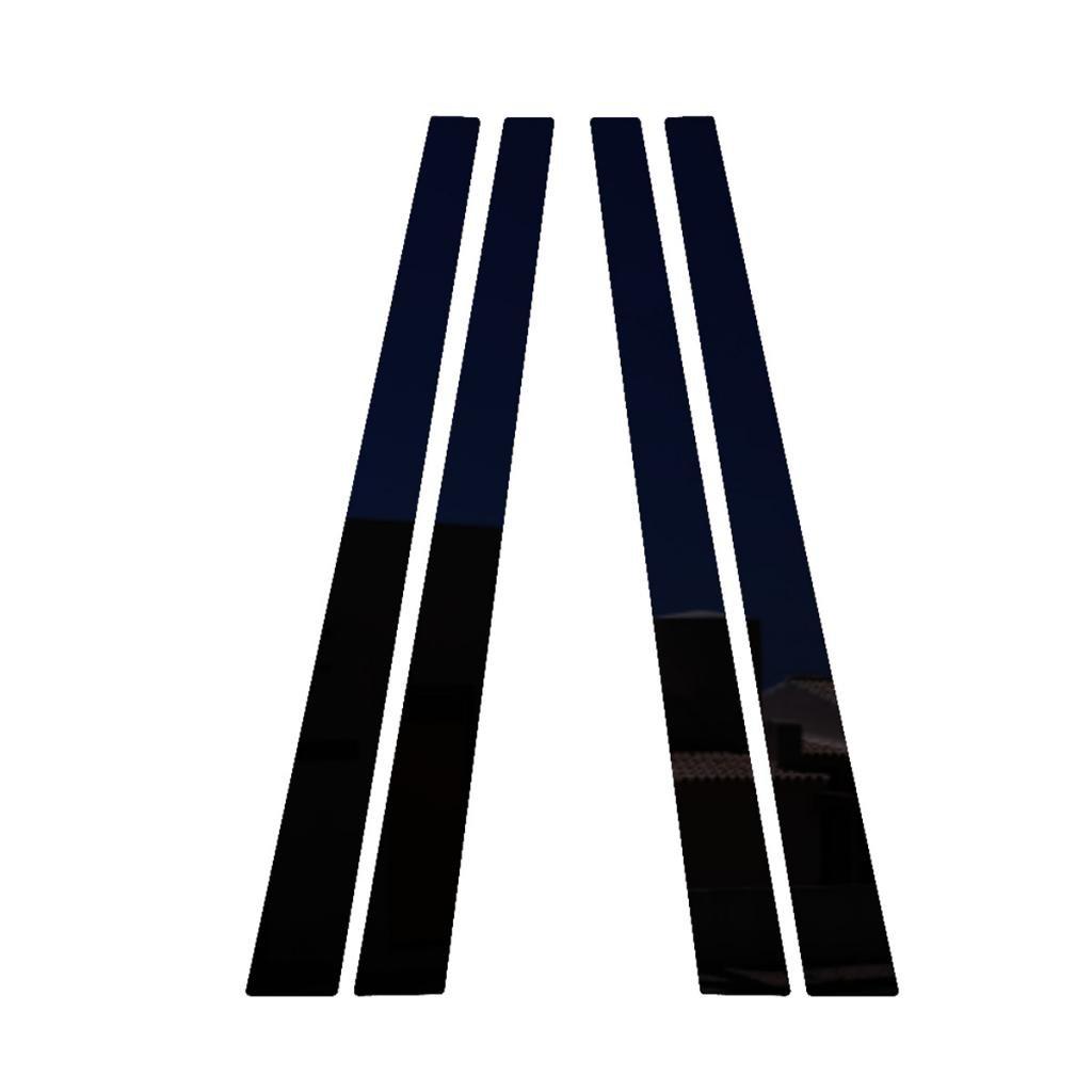 Piano Black Pillar Post Trim Cover fits: 1990-2000 Lexus LS400 All Models - Ferreus Industries - PIL-031-GB