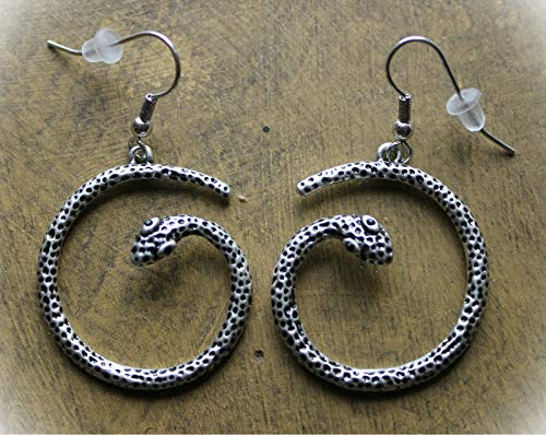 Snake Coil Silver Earrings For Women Crystal Fashion Jewelry Dangle Serpent Animal Jewelry Jungle Rebel Rainforest