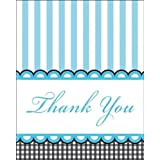 Creative Converting Sweet Baby Feet Blue Thank You Notes...