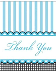 8-Count Thank You Notes, Sweet Baby Feet Blue