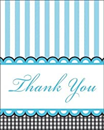Creative Converting Sweet Baby Feet Blue Thank You Notes, 8-Count