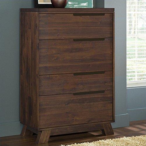 Modus Furniture 7Z4884D Portland Solid Wood Secretary Che...