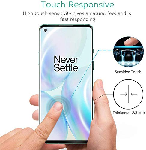 Al-HuTrusHi Oneplus 8 Screen Protector,[Full Glue][3D Full Coverage][9H Hardness] [Scratch Resistant] Tempered Glass Screen Protector for Oneplus 8