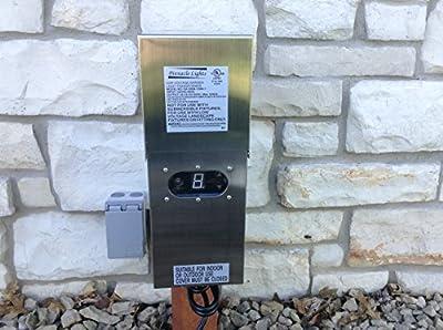 300 Watt Wess Stainless Steel Low Voltage Transformer Landscape Garden Lighting