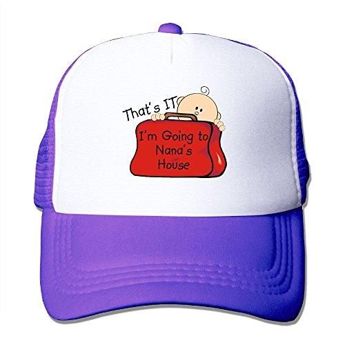 Purple Skin Fits Guitar (ZhiqianDF Men's That's It Nana Classic Jogging Purple Mesh Hats Adjustable Snapback)