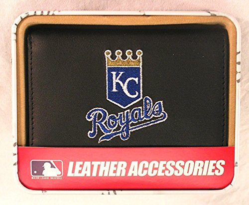 Kansas City Royals Embroidered Leather Trifold Wallet by Rico