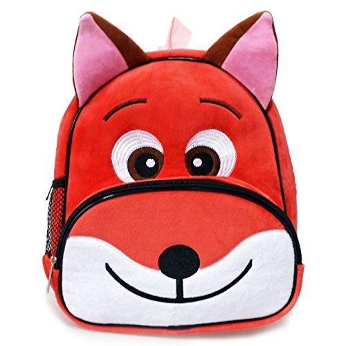 Children Toddler Kids Backpack 3D Zoo Animal Cartoon Pre School Backpack Fox Red