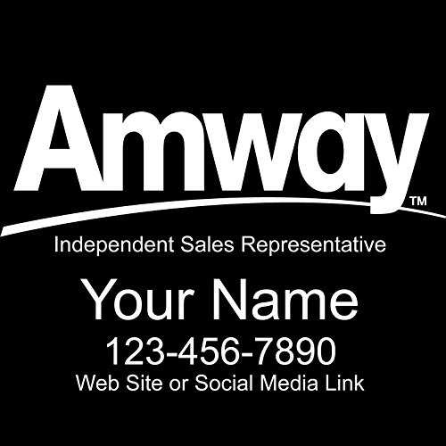 Basic Vinyl® - Amway® Independent Consultant Business Retail Decal - Personalized Custom Advertising for Your Company Vehicle Car Truck (12x8 Inch, Gloss White)