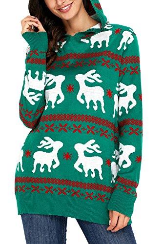 HOTAPEI Christmas Reindeer Snowflakes Oversized