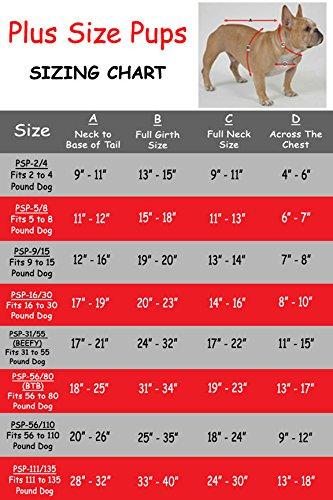Plus Size Pups English Bulldog Dog Sweatshirts - Sizes Beefy and Bigger Than Beefy with More Than 20 Fleece Patterns to Choose from! (Bigger Than Beefy, Red Lips) by Plus Size Pups (Image #2)
