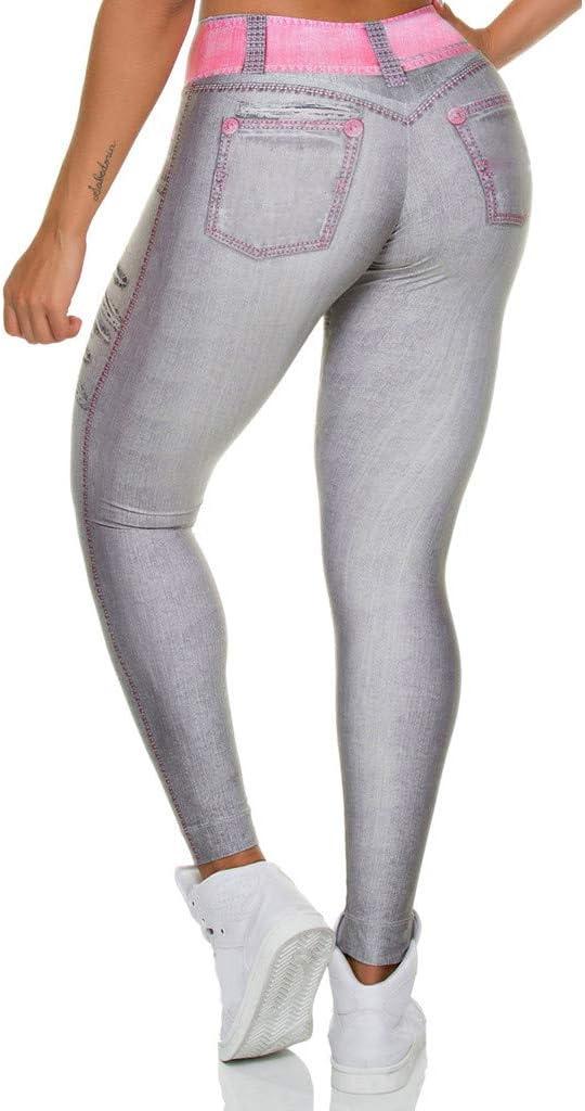 hahashop2 Damen Frauen Leggings Yoga Hosen Sport Yoga Workout Gym Fitness /Übung Sportliche Hosen Pants Sterne drucken gebrochene Yogahosen