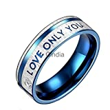 AVN Jewellers 18CT PLATINUM AND RODIUM PLATED REAL LOVE RING FOR VALENTINE DAY SPECIAL OFFER (1Pc)