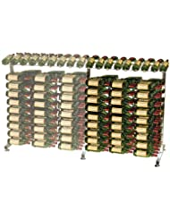 VintageView 180 Bottle Island Extension Metal Wine Rack Platinum RequiresIDR3 Island Display Rack