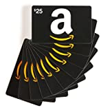 Amazon.com $25 Gift Cards, Pack of 10 (Classic Black Card Design)