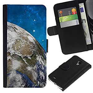 KingStore / Leather Etui en cuir / Samsung Galaxy S4 Mini i9190 / Spazio