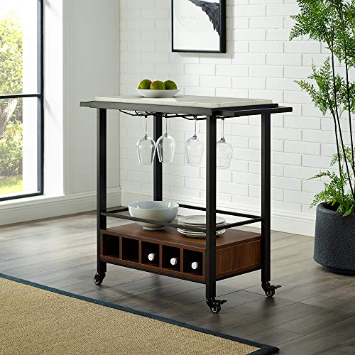 (WE Furniture AZF34MADWWM bar cart, 34