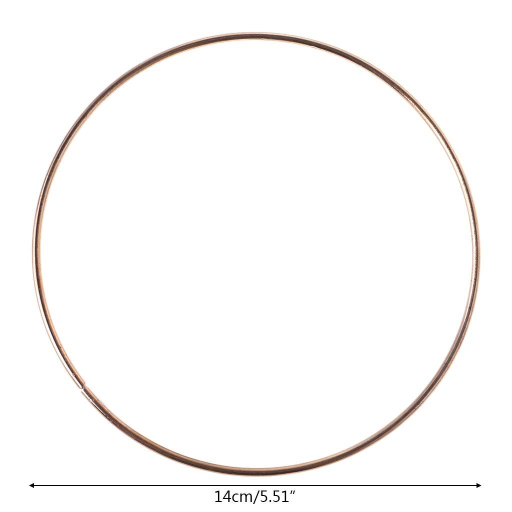 BYNNIX 35mm-190mm Metal Dream Catcher Dreamcatcher Ring Macrame Craft Hoop DIY Accessory 8 cm //3.15 in