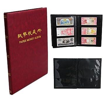 LAY'S 60 Pockets Paper Money Collection Album Book Bill Note Storage