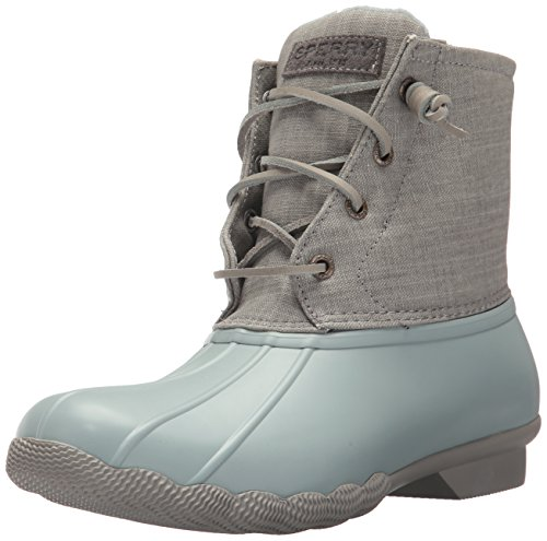 Sperry Women's Saltwater Canvas Rain Boot Abyss/Grey 6 Medium US