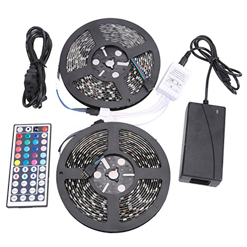 cheap XKTTSUEERCRR 10M/32 8 FT 600LED (Two Rolls) SMD Black PCB 5050