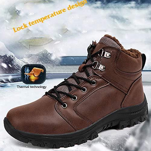 Caviglia Caviglia Caviglia da da Invernali Scarpe Calde Foderato Impermeabile da da da Black Pelliccia LI Casual Lavoro in Outdoor Neve da MISS Uomo Uomo Scarpe Stivali FHPqCtwAx