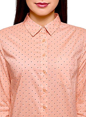 en 5429o Ultra Basique Femme Rose Coton Chemise oodji HIqfwF