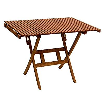 Byer of Maine Pangean Roll Top Table, Hardwood Keruing Wood, Hand-Dipped Oil Finish, Easy to Fold and Carry, Perfect for Camping and Tailgating, Matches All Furniture in the Pangean Line