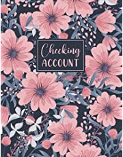 Checking Account: Simple Accounting Ledger for Bookkeeping and Small Business | Large Print Income Expense Account Recorder and Tracker Logbook