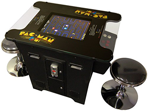 Cocktail Arcade Machine 412 Games in 1 Includes 2 Stools 5 Year Warranty with Classics Games like Donkey Kong Space Invaders Frogger Burger Time and Much More Commerical Grade with Coin Op