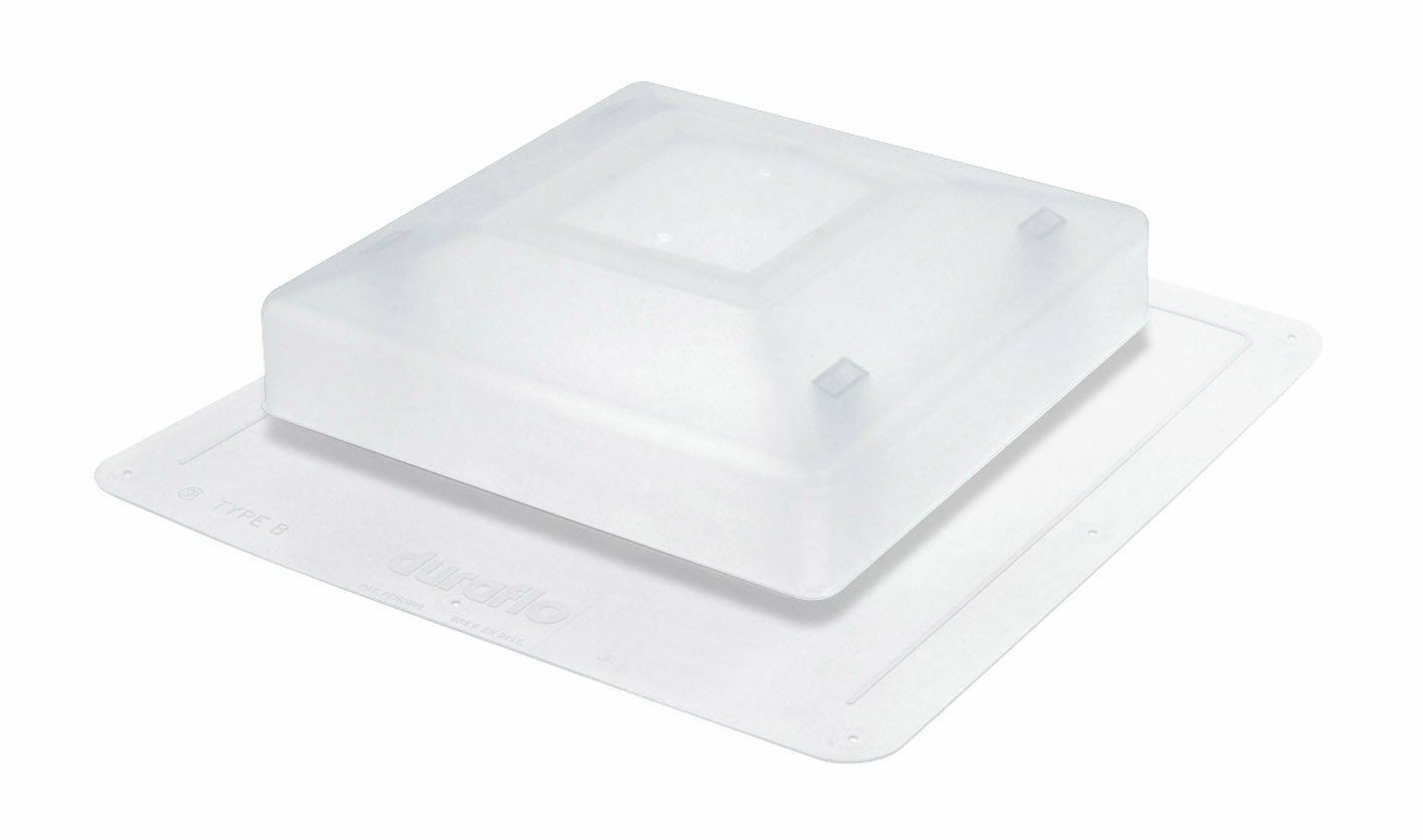 Duraflo 5950C Shedlight Roofvent Transluscent Shedlight Roof Vent, Translucent by Duraflo