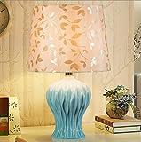 Modern Minimalist European Ceramic Table Lamp Bedroom Bedside Lamp Warm American Lamp Push Button Switch