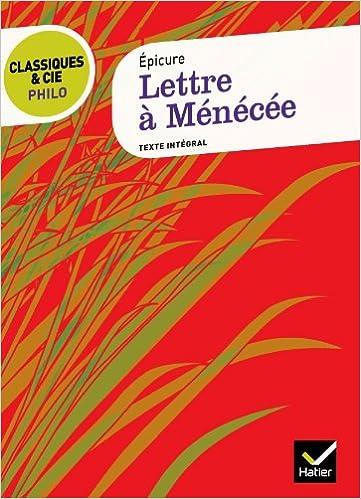 Livre gratuits Lettre à Ménécée (Épicure) pdf epub