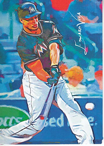 RARITIES COLLECTION - EDWARD VELA - GIANCARLO STANTON #1 - #16/100 Miami Marlins - New York Yankees - LIMITED Edition Sketch CARD ()