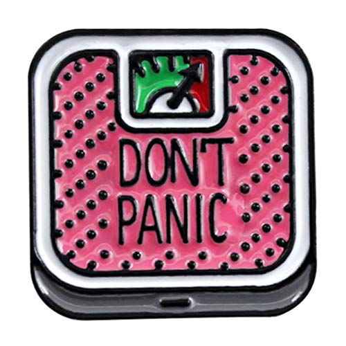 Flairs New York Premium Handmade Enamel Lapel Pin Brooch Badge (Don't Panic Pink Scale, 1 Pin)