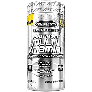 MuscleTech Multivitamin, Multi Vitamin for Adults, 90 caplets from MuscleTech