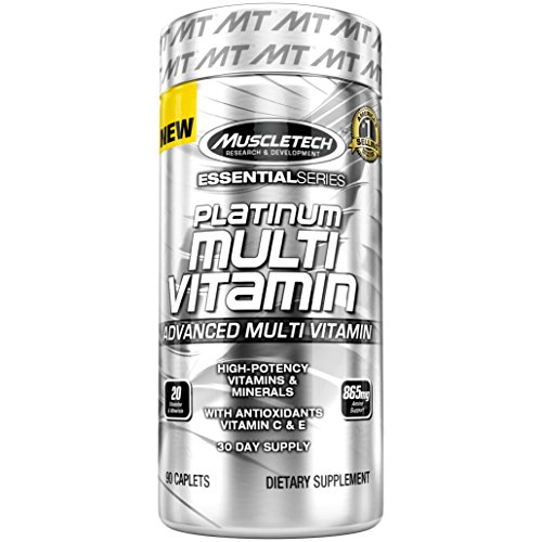 MuscleTech Multivitamin Vitamin caplets packaging