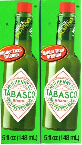 Tabasco Green Pepper Sauce, 5-ounce Bottle - Pack of 2