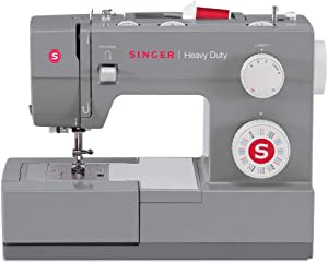 SINGER Heavy Duty 4432 32 Built-in Stitches, Automatic Needle Threader, Metal Frame and Stainless Steel Bedplate, Perfect T Sewing Machine, Gray