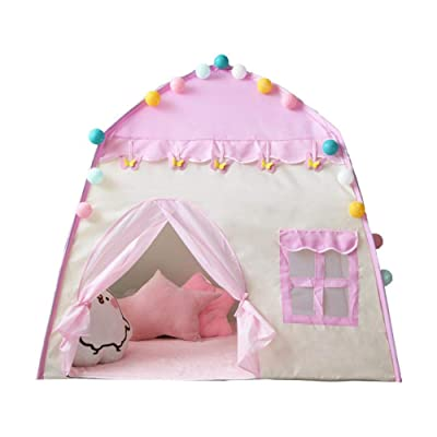 Ridecle Kids Play Tent,Princess Castle Tent Large Playhouse Kids Castle Play Tent 1-6 Years Children Indoor Toy House Kids Pop Up Tent for Girls Birthday Gift 51.239.551.2in: Home & Kitchen [5Bkhe0300893]