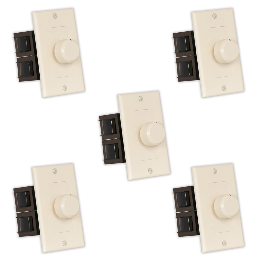 Theater Solutions TSVCD-A Indoor Speaker Volume Controls Almond Dial Audio Switches 5 Piece Pack