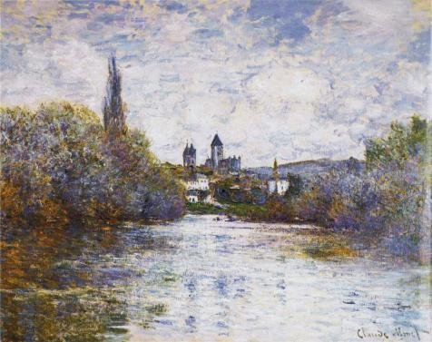 (The Perfect Effect Canvas Of Oil Painting 'Vetheuil, The Small Arm Of The Seine, 1880 By Claude Monet' ,size: 12x15 Inch / 30x38 Cm ,this Beautiful Art Decorative Canvas Prints Is Fit For Kitchen Artwork And Home Decor And Gifts)