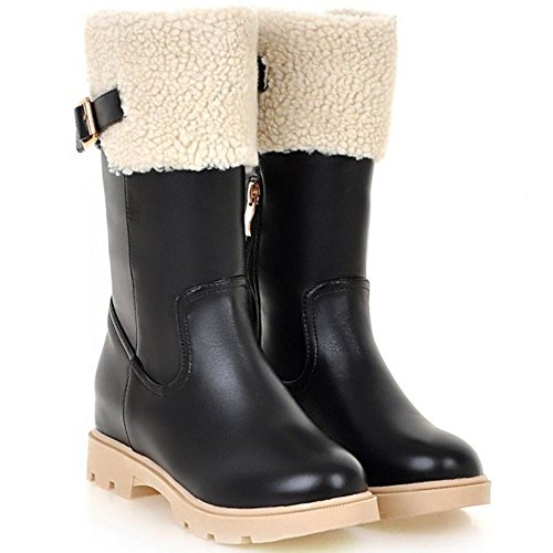RAZAMAZA Women Boots Zipper Hidden Heel Black RnCaLBtUhh