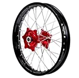Dubya Talon EVO 56-6155RB Red Hub/Black Rim Complete Rear Wheel (2.15 x 18)