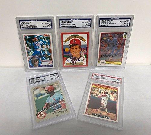 Psa / Dna Baseball (PSA / DNA St Louis Cardinals Autograph Baseball Card Lot Lot Pendleton Herr Forsch Magrane)